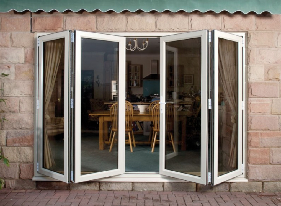 Manufacturers of the eurocell conservatory roofing the for Upvc folding doors